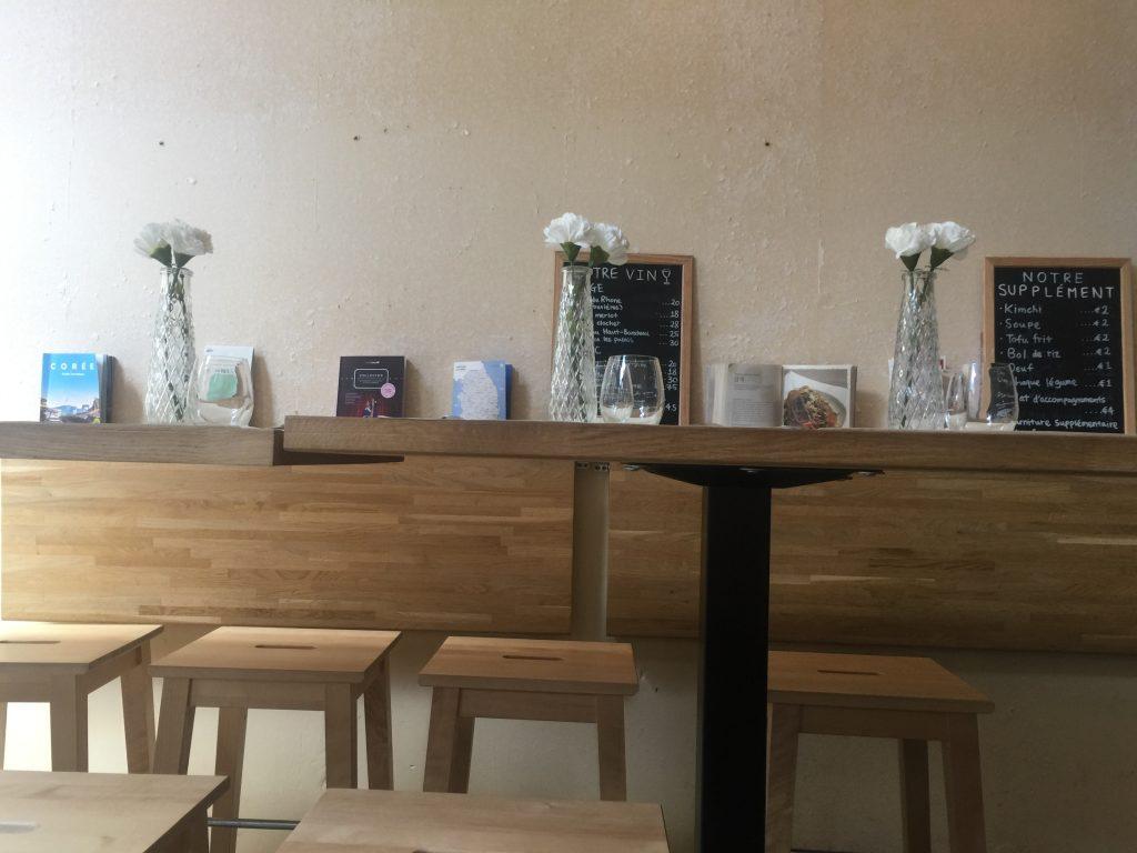 l'intérieur du restaurant le goût de Kyun