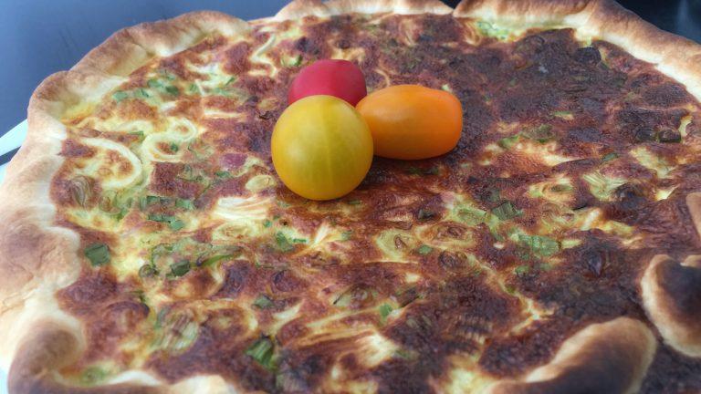 ma quiche au jambon et oignon de printemps