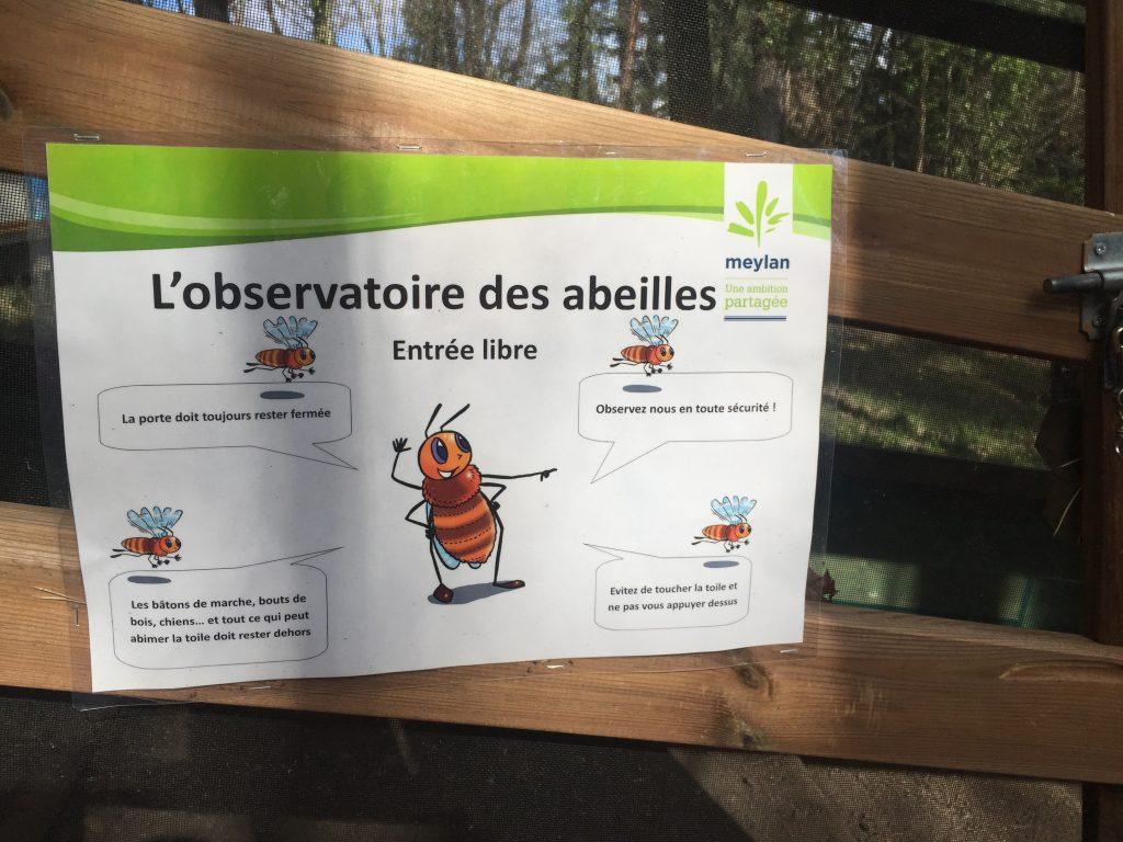 Abservatoire des abeilles du domaine de Rochasson