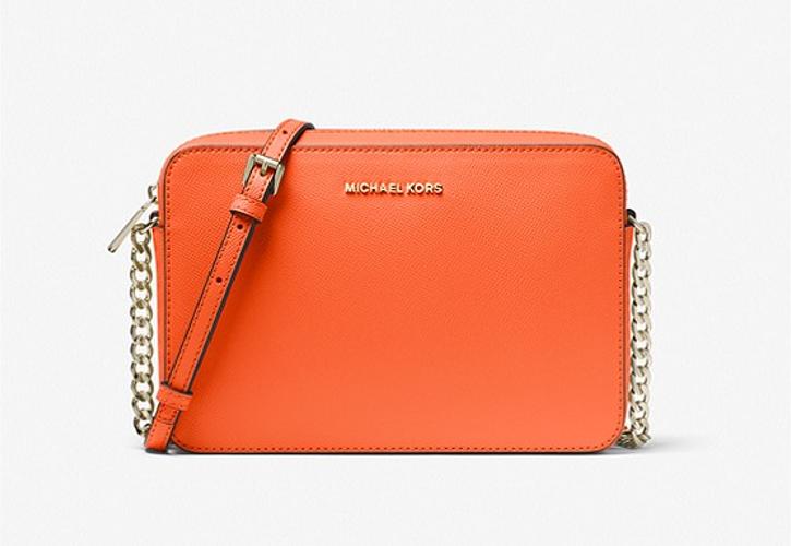 Micheal Kors sac à bandoulière Jet Set en cuir saffiano, modèle orange