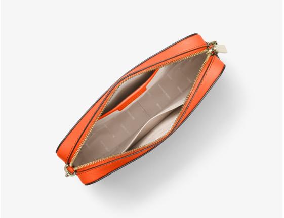 Micheal Kors intérieur du sac à bandoulière Jet Set en cuir saffiano, modèle orange