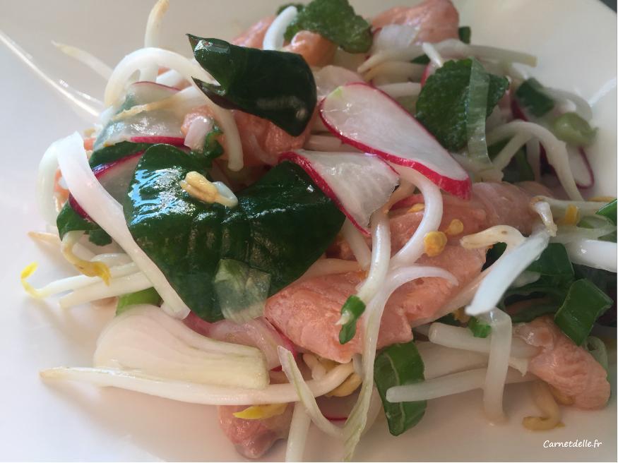 salade de saumon printanière