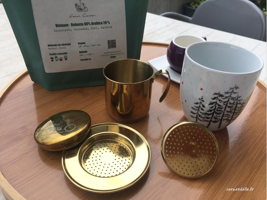 Recette traditionnelle de café vietnamien: filtre en métal