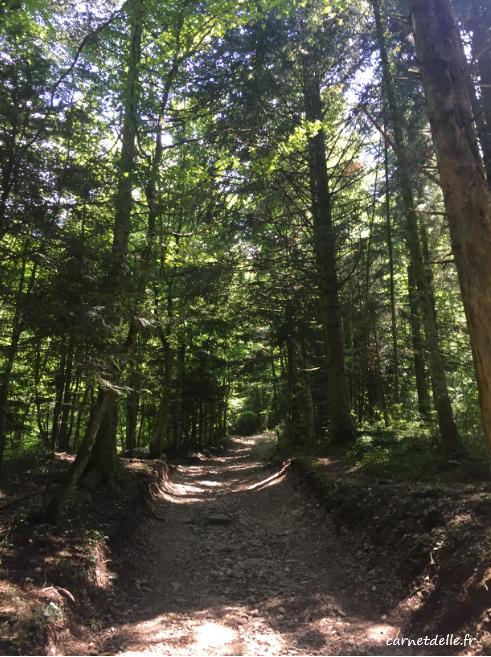 Chemin pédestre vers la cascade Pisserotte